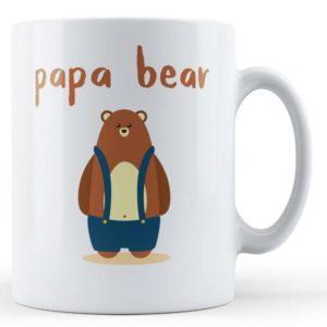 """Cute Dad/Daddy Bear Pun """"Papa Bear"""" – Gift Mug"""